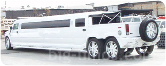 H2 Hummer dual axle New White Mercedes S550 stretch